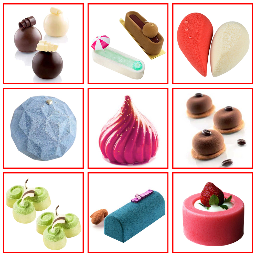DIY Cake Mold 3D Silicone Molds For Baking Dessert Mousse Kitchen Bakeware Tools Art Cake Form Tray Mould