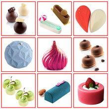 DIY Cake Mold 3D Silicone Molds for Baking Dessert Mousse Kitchen Bakeware Tools Art Cake Form Tray Mould(China)