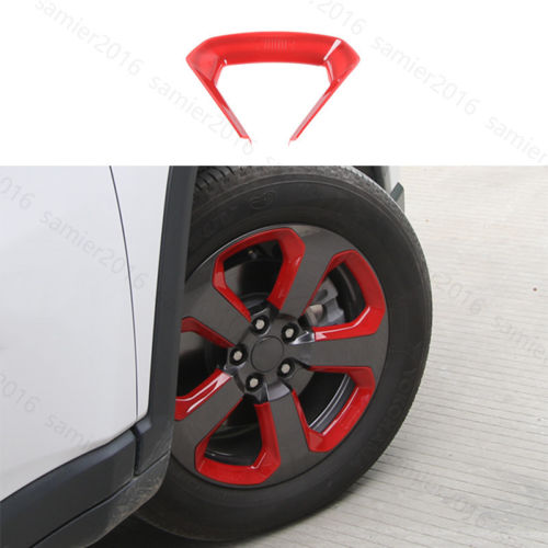20x Red ABS Fit For Jeep Compass 2017 Car Wheel Round Decorator Frame Cover Trim
