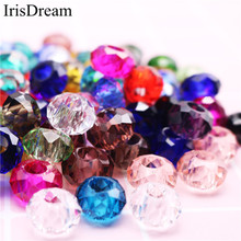 50Pcs Mixed Color 5mm Large Hole Cut Faceted Glass Beads Spacer Crystal Charms Fit For Original Pandora Bracelet DIY Jewelry 10pcs hot cut faceted color crystal glass beads fit european bracelet spacer original pandora charm bracelet for jewelry making