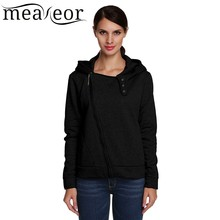 Meaneor Women Casual Hoodie Jacket Coat Stylish Ladies Slim Fit Zip up Warm Thick Jackets Autumn
