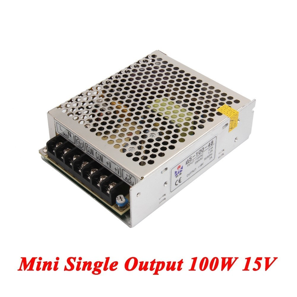 DC Smps Power Supply 100W 15V 6.7A,Single Output Switching Power Supply For Led Strip,voltage Converter AC110V/220V To DC 15V single output dc24v 40a 1000w switching power supply ac dc 24v converter voltage transformer smps for led strip light s 1000 24