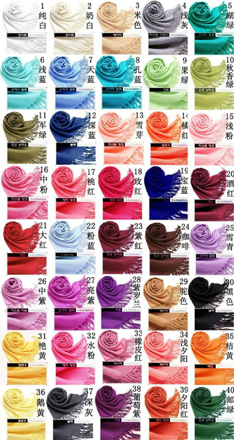 2014 Spring New Style Multicolor Women's Fashion Pashmina Shawls Tassels Craves Wrap Soft Cape Dropshipping