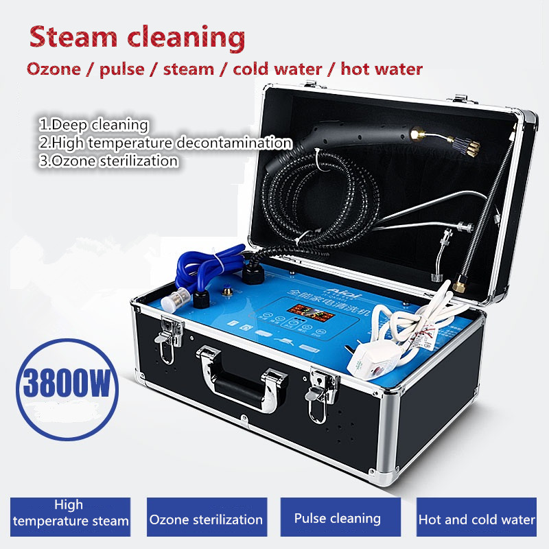 High-temperature appliance steam cleaner MFP multi-function machine high-pressure hood air conditioner complete cleaning machine 1pc household high temperature kitchen bathroom steam cleaning machine handheld high temperature sterilization washing machine