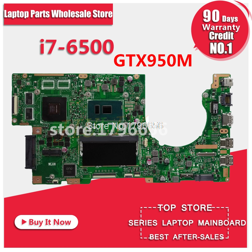 K501UX Para ASUS K501UW K501UB K501U laptop motherboard mainboard K501UX DDR3 4 gb RAM i7-6500U com GTX950M test 100% ok for asus k501ux k501ub laptop motherboard k501ux mainboard rev2 0 i5 cpu with graphics card 100