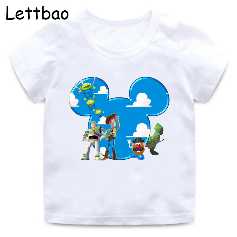 Buzz Lightyear chil tee shirt on new quality cotton kids t shirt