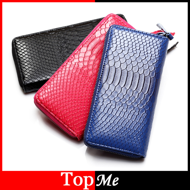 New Fashion Women Wallets Cards Holder Serpentine Snake Skin PU leather Lady Handbags Money coin purse Clutch Zipper Wallet Bags yuanyu 2018 new hot free shipping real python skin snake skin color women handbag elegant color serpentine fashion leather bag
