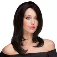 Human Women Hair Top Piece Handtied Magic Closure Toupee Highlight Secret Crown Clip Hairpiece H071