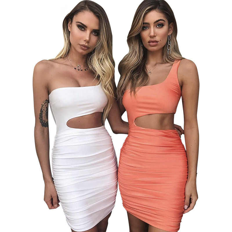 Off Shoulder Sexy Bodycon Bandage Dress Women Sexy Strapless Long Sleeve  Hollow Out Party Dresses Vestidos 1fbca9150283