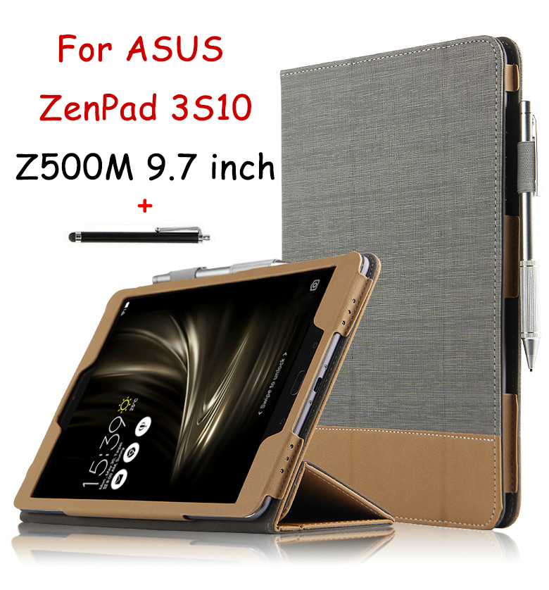 Case for Asus ZenPad 3 S 10 Z500M 9.7 Inch PU Leather Protective Cover for ASUS ZenPad 3S 10 Tablet Stand Case Auto Sleep / Wake