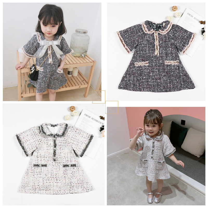 Summer Girl Baby Little Fragrance Famous Lady Dresses in 2019Summer Girl Baby Little Fragrance Famous Lady Dresses in 2019