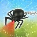 200 pcs/lot пластик из светодиодов 3D паук в форме брелки с звук новинка игрушка брелоки для детей