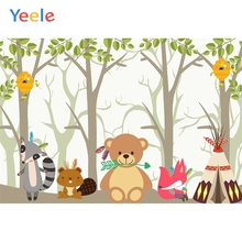 Yeele Baby Shower Birthday Photocall Cartoon Animals Photography Backdrop Personalized Photographic Backgrounds For Photo Studio