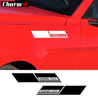 2pcs EB Ecoboost 2 3 Turbo Car Graphic Stickers Fender Side Decal For Ford Mustang 2015