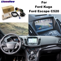Liandlee Parking Camera Interface Reverse Back Up Park Camera Kits For Ford Kuga Escape C520 Original Display Upgraded