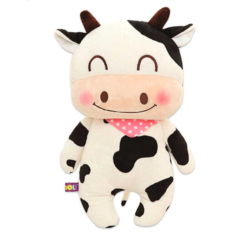 1 ชิ้นน่ารักวัวตุ๊กตาตุ๊กตาตุ๊กตาเด็กของขวัญใหม่มาถึง kawaii สัตว์ Series PP ผ้าฝ้ายตุ๊กตาวัวตุ๊กตา Soft Plush ของเล่น