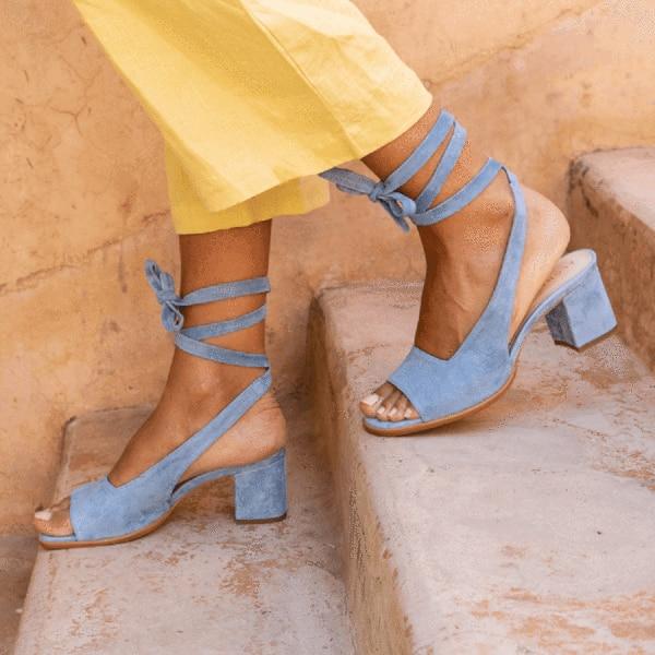 PUIMENTIUA 2019 Fashion Women New Strappy Bandage Lace-Up Toe Sandals Flat Heel Cut Out Sandals Peep Toe Shoes Plus Size