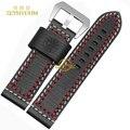 Толстый кожаный браслет ручной Ремешок Для Часов смотреть band двойной Поток шить ремешок 22 24 мм наручные часы ремень