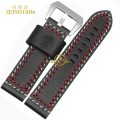 thick Genuine leather bracelet handmade Watchband watch band double Thread stitching watch strap 22 24mm wristwatches belt