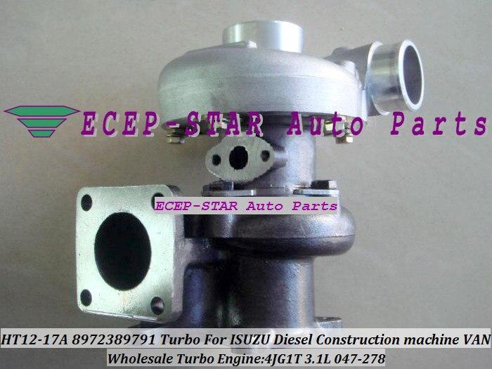 HT12-20 047-283 047283 8973186510 8-97318-6510 Turbo Turbocompresseur Pour ISUZU MULTIQUIP Construction Groupe Électrogène 05-4JG1T 4JG1 3.1L