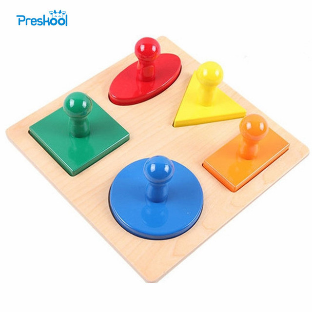 Montessori Infant Kids Toy Baby Wood Infant Shape Puzzles Learning Educational Preschool Training Brinquedos Juguets 24 months