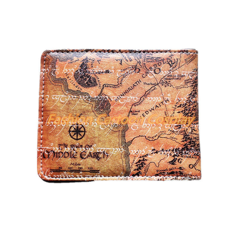 Aliexpresscom  Buy The Lord of the Rings Map Wallets Brown PU