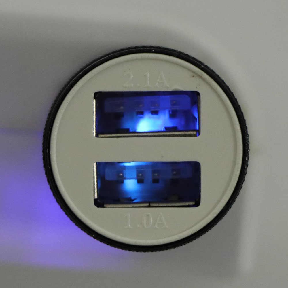 Coche Universal electrónica cargador 2 rápida a los puertos USB de doble puerto USB adaptador de cargador de coche USB DC12-24V