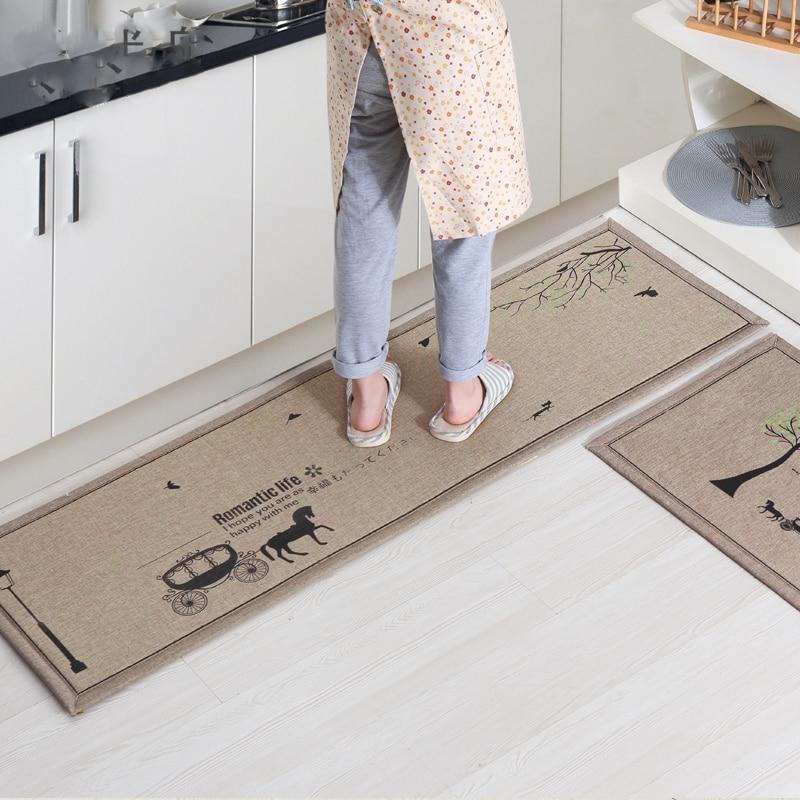 50X80CM + 50X160CM / Set Doormat Non-Slip Кухня Дыван / - Хатні тэкстыль