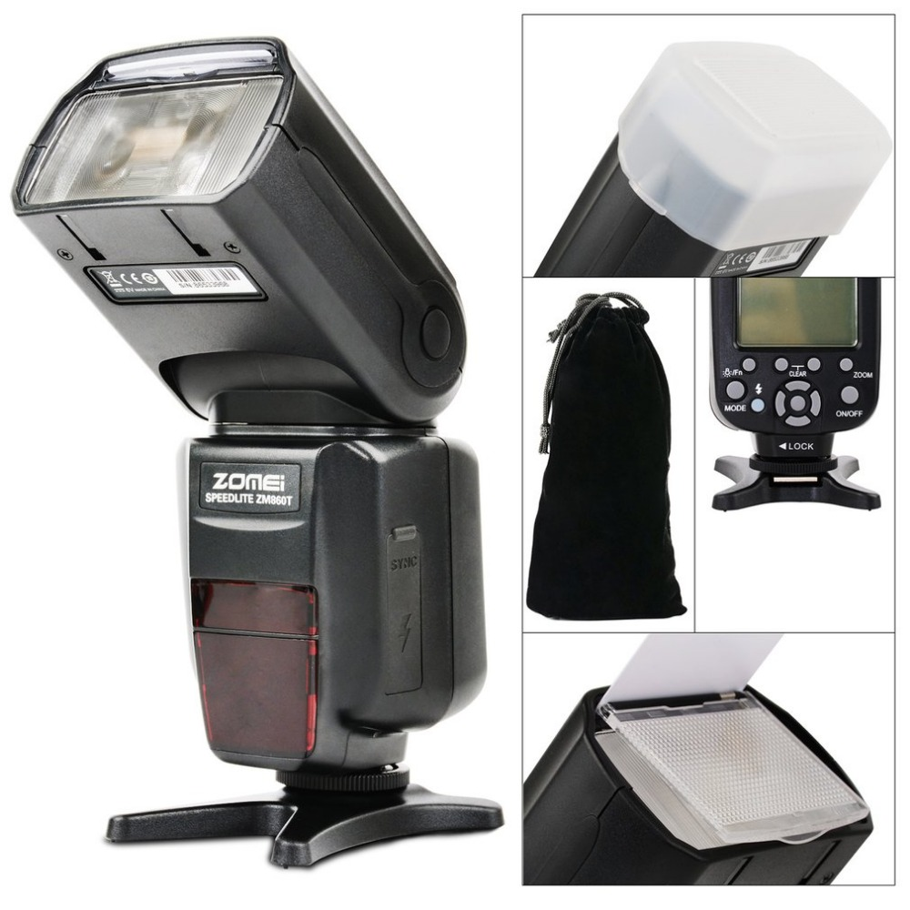 Zomei ZM-860T Professional Speedlight LCD Display HSS 1/8000s Master TTL Speedlite High Speed Sync Flash For Canon Nikon dx world triopo tr 988 professional speedlite ttl camera flash with high speed sync for canon and nikon digital slr cameras