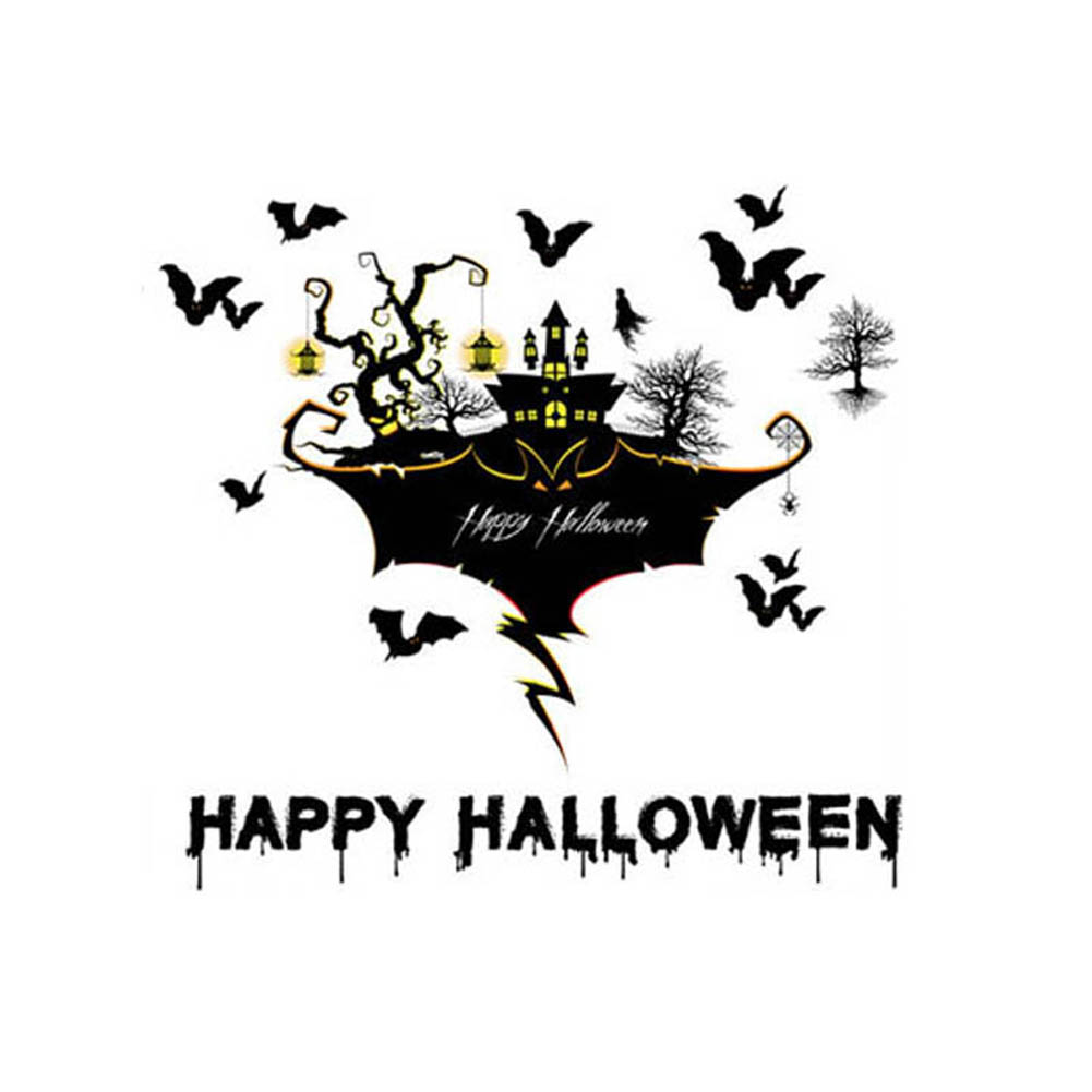 6090cm pvc halloween black broom witch decoration wall paper art removable sticker decals tb sale