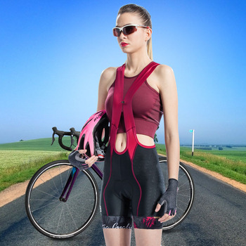 Santic Women Cycling Bib Shorts Pro 4D Padding 2-3 Hours Ladies Cycling Shorts Breathable Quick Dry Asia Size S-2XL L8C05096