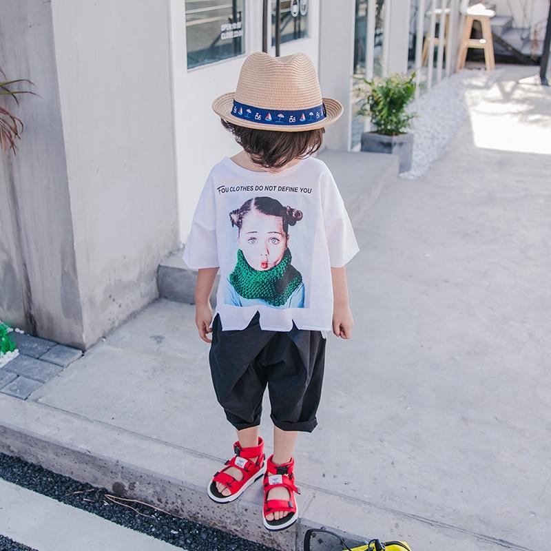 2018 nowy letni chłopak pięć spodnie na co dzień cienkie spodnie - Ubrania dziecięce - Zdjęcie 3