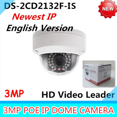Free shiping New Arrival english version 3Mp Audio I/O interface,Alarm I/O interface Mini Dome Camera CCTV camera DS-2CD2132F-IS american more level 3 workbook with audio cd