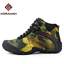Outdoor Hunting Shoes For Men Waterproof Winter Sneakers Men Increased Internal Non Slip Hunting Camping Shoes Hiking Boots
