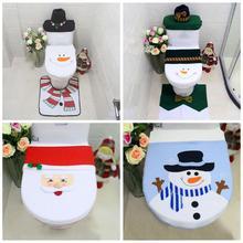 Рождественская накидка на сиденье для унитаза, Рождественский Бумажный ковер, натальные украшения, Санта Клаус, новогодний Navidad, Рождественский Декор для дома