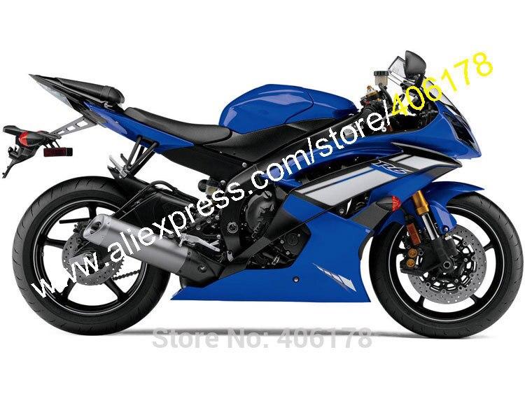 Лидер продаж, пользовательские обтекателя Для Yamaha YZF R6 2008 2009 2010 2011 2014 2015 2016 YZF R6 синий Кузов обтекателя (литья под давлением)