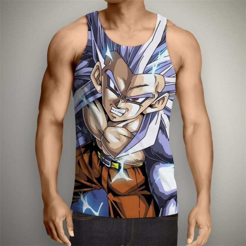 Dragon Ball Z Super Saiyan DBZ Vegeta Goku 3D Print Mens Tank Top T-Shirt Vest