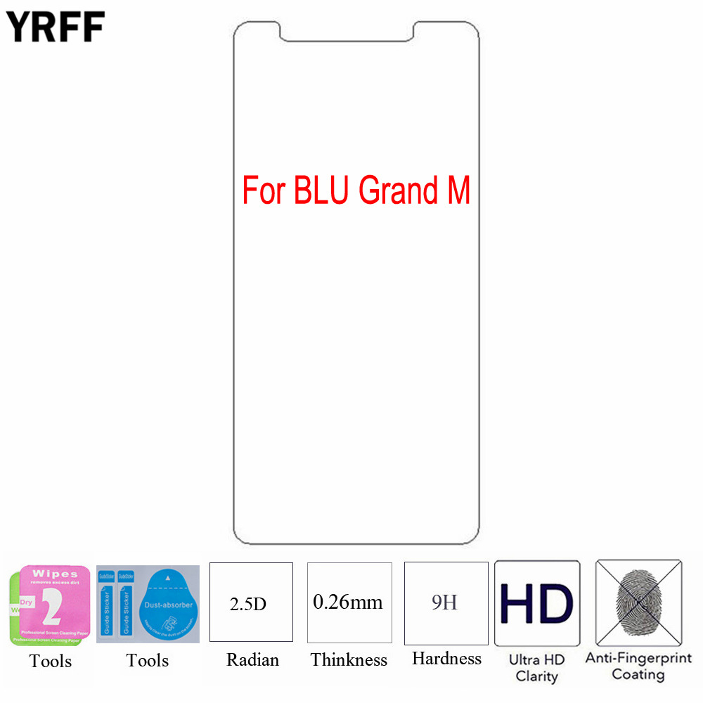 2PCS 2.5D 0.25mm 9H Tempered Glass Screen Protector Protective Film For BLU Grand M Free Tools