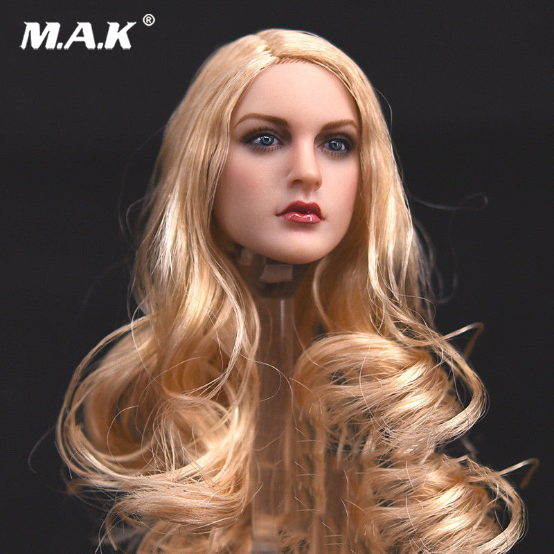 KT007 1/6 Long Hair Head Model Sculpt Fit for 12 Female Phicen Body 1/6 Action Figure Accessories dstoys d 005 1 6 scale female head sculpt beauty girl headplay long curly hair for 12 ht phicen action figure
