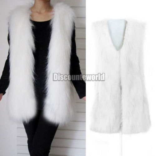2015 New Fashion Women Faux Rabbit Fur Gilet Vest Waistcoat Sleeveless Jacket Coat Outerwear 5 Color 6 Size