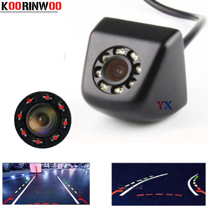 Koorinwoo Dynamic Trajectory HD CCD Car Parking Camera Moving Parking Line Car Rear View Camera Backup Parking Assist Video