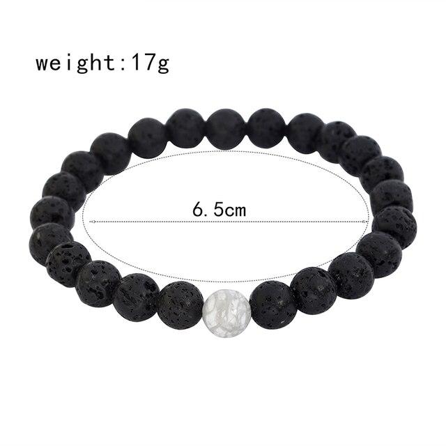 QIHE JEWELRY Men beads bracelet White black matte stone tiger eye lava stone bracelet mix style Pulseira Masculina Male jewelry