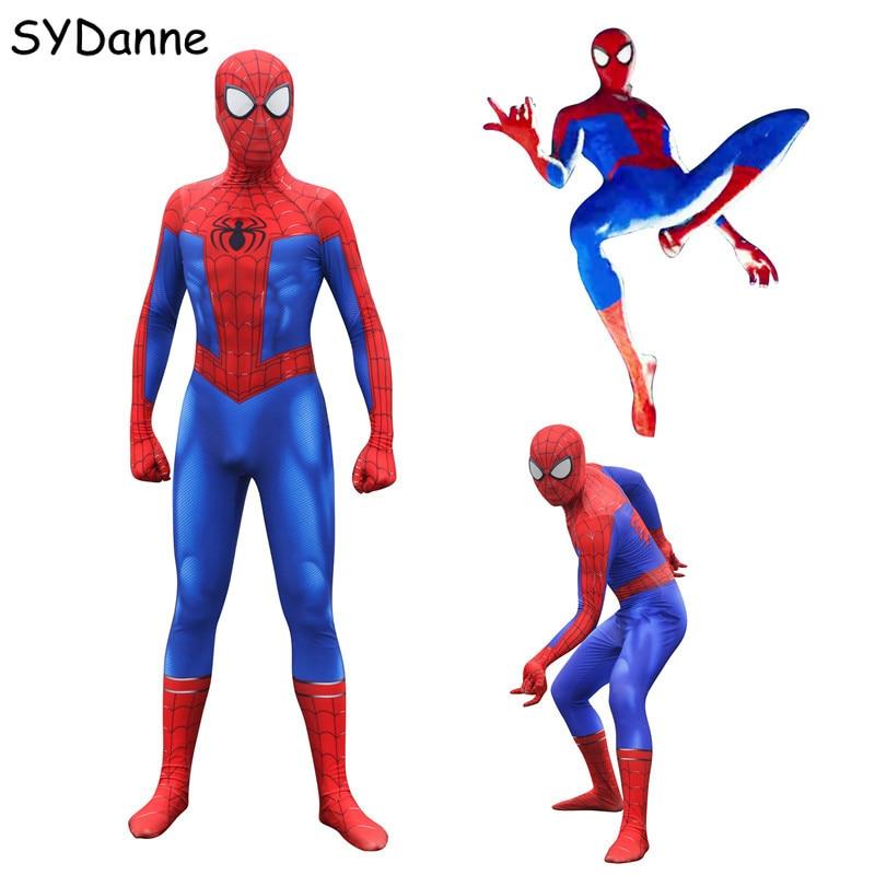 Spider Man Peter Parker Cosplay Costumes Spiderman Superhero Zentai Iron Bodysuits Jumpsuits Mask For Boys Adult Men Halloween