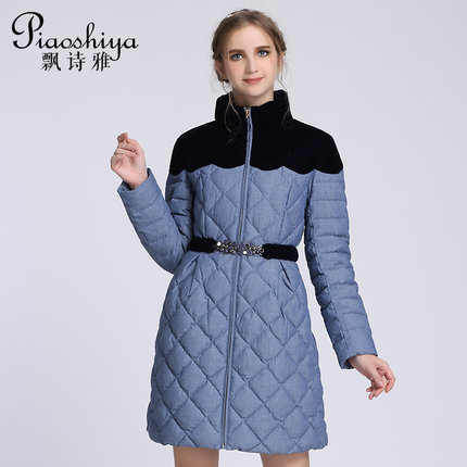 2016 new hot winter Thicken Warm woman Down jacket Coat Parkas Outerwear Collar Mid long plus size Luxury Brands Slim Splice 2016 new hot winter thicken warm woman down jacket coat parkas outerwear hooded luxury long plus size slim brands