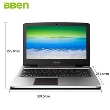 BBEN G16 15.6″ Windows 10 Intel I7-7700HQ CPU NVIDIA GTX1060 GDDR5 6GRam 16G DDR4 256G  SSD 1T HDD RJ45 Backlit Keyboard Laptop