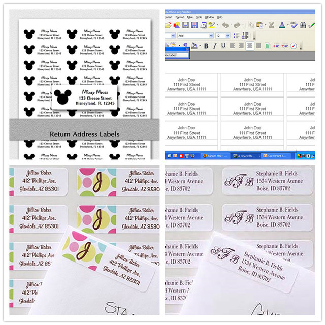 personalized returnmailing address labels 1 x 2625custom mailing labels