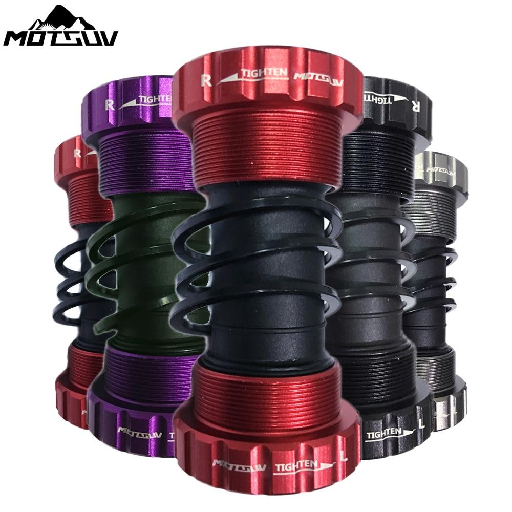 MOTSUV Bicycle Bottom Bracket 68/73mm Bicycle Axis MTB Road Bike Bottom Bracket Waterproof CNC Alloy BB Crank Set Axis Parts