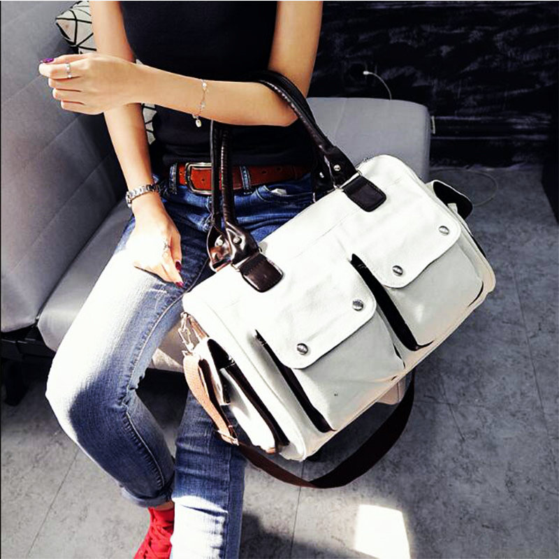 Women Canvas Handbags Message Bags Shoulder Bags For Sporting Gym New Style  Outdoor Trip Crossbody Bag 38ad894e0b