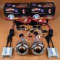 Motocicleta Faros Angel Eyes de Halo HID Bi-xenon Proyector Lente Luz Para CBR 600F4I 500R Ninja 650 300 GSXR 600 650 R1 R6 R15