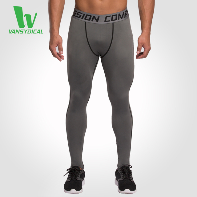 67e9d9545f Men's Base Layer Fitness Pants Jogging Trousers Compression Tights Long  Pants Sports Running Leggings Workout Gym Wear Solid